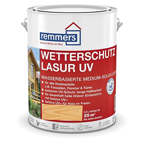 Remmers Wetterschutz-Lasur UV - farblos UV+ 2,5L