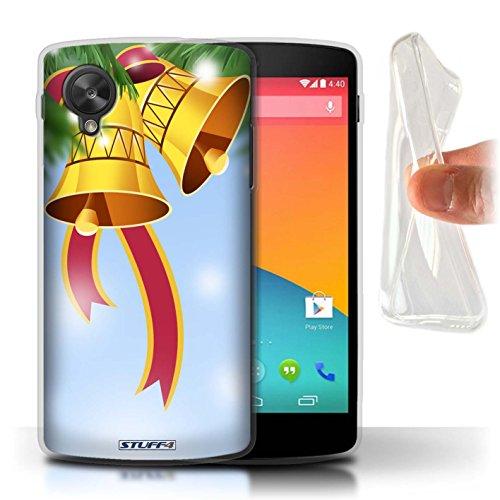 STUFF4 Gel TPU telefoonhoesje/hoes voor LG Google Nexus 5/D821 / klokken/lint ontwerp/kerstversieringen collectie
