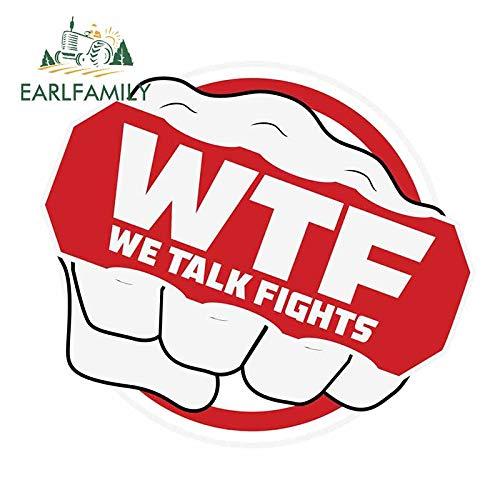 A/X 13 cm 11,5 cm para We Talk Fights, Pegatinas Impermeables para Coche, Furgoneta, Nevera, a Prueba de arañazos, Ventana, Maletero, camión, calcomanía
