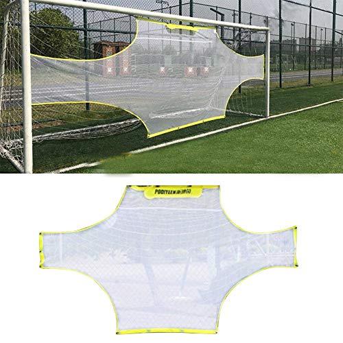 Fußball-Tornetz, 11 Personen Fußball-Trainingsnetz, Tragbares Fußball-Trainingsnetz, Trainingsschieße für Kinder Erwachsene