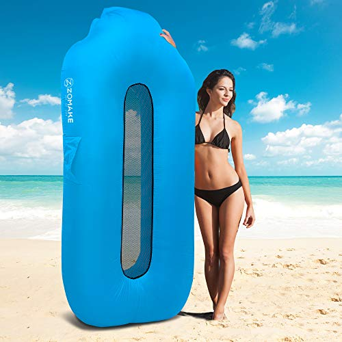 ZOMAKE Inflatable Lounger Couch for Adults, Anti-Air Leaking & Waterproof Air Sofa for Beach, Backyard, Camping, Picnics, Music Festivals