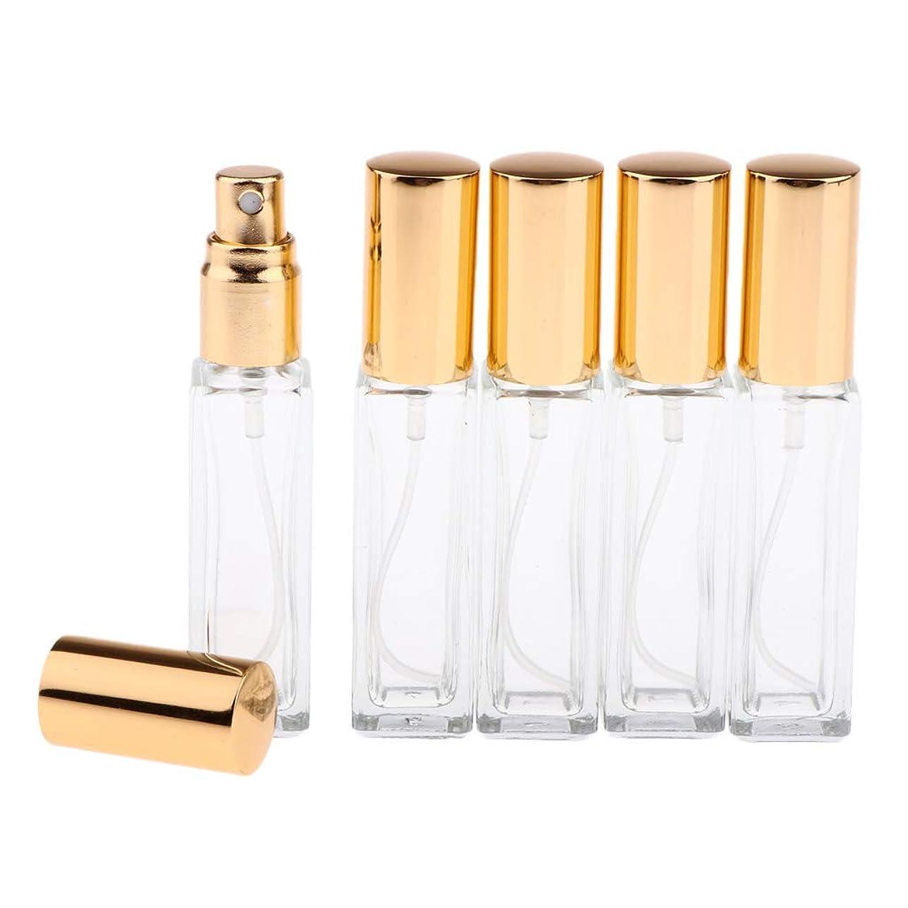 暖かさライン代替Perfeclan 香水アトマイザー スプレーボトル 空のボトル ポンプボトル ファインミストスプレーボトル 6カラー 5個 - 金色キャップ