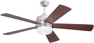 Emerson CF930LBS Atomical LED Ceiling Fan, Brushed Steel