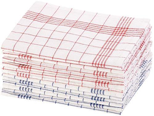 Rosenstein & Söhne Strofinacci: Set di 12 strofinacci semi-lino, 70x50 cm, OEKO-TEX Standard 100 (Strofinacci di lino)