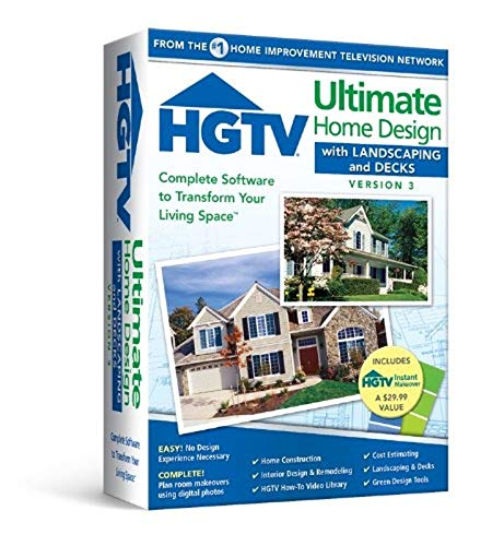 HGTV Ultimate Home Design 3.0 With Landscaping and Decks Includes Instant Makeover