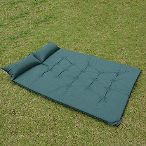FEE-ZC Camping Opblaasbare Slaapmat, Matras, Zelf Opblaasbare Outdoor Roll Up Foam Bed Met Kussen Dikke Draagbare Slaapkussen, Groen*L