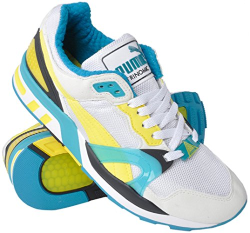 PUMA Men's Trinomic Xt 2 White/Buttercup Cobalt Blue Ankle-High Fashion Sneaker - 8M