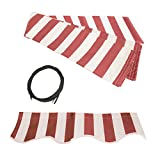 ALEKO FAB8X6.5REDWT05 Retractable Awning Fabric Replacement 8 x 6.5 Feet Red and White Striped