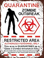 Zombie メタルポスター壁画ショップ看板ショップ看板表示板金属板ブリキ看板情報防水装飾レストラン日本食料品店カフェ旅行用品誕生日新年クリスマスパーティーギフト