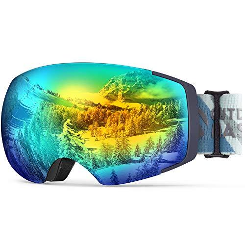 Zealot Ski Goggles, Ex-Anti-Fog Color Optimized Snowboard Goggles - Lancer