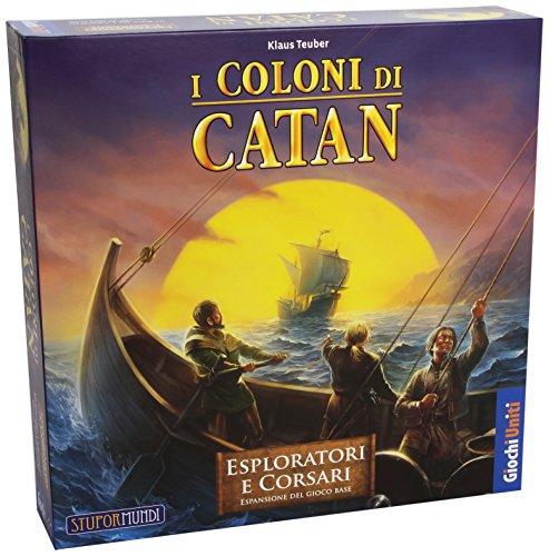 Giochi Uniti - I Coloni di Catan, Esploratori e Corsari [Espansione per I Coloni di Catan],12 anni e più