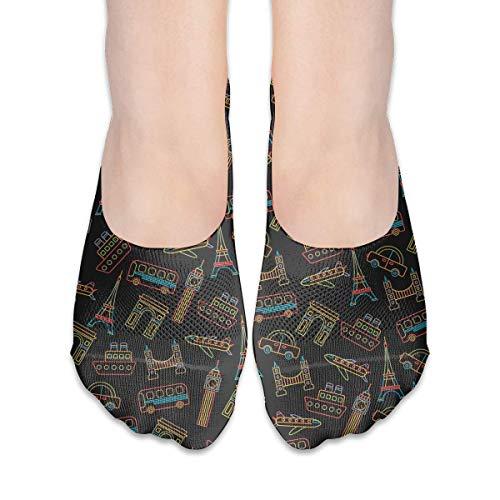 Calcetines para mujer Paris Tower al Arch de corte bajo calcetines invisibles calcetines