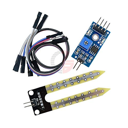 5Pcs Soil Hygrometer Humidity Detection Module Ground Moisture Water Sensor Board DIY Kit for Arduino Dupont Cable