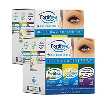 Fortifeye Vitamins Advanced Dry Eye Therapy - Super Omega 3 Fish Oil Focus Eye Care Supplement and Black Currant Oil GLA - 60 Day Supply - Softgel Capsules