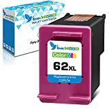 Inkwood Cartucho de tinta remanufacturado HP 62XL 62 XL Tri-Color 1 Pack para Envy 5540 7640 5640 5546 5660 5644 5544 5541 5646 OfficeJet 250 7640 5640 200 5546 5740 5660 5644 5544 5541