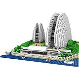 Anoauit Sydney Opera House World Famous Architecture Modelo DIY Pequeña partícula montada Diamante Mini Bloques de construcción Juguetes para niños,B