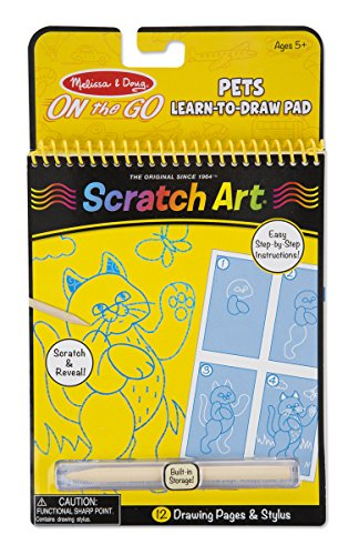 Scratch Art On The Go : Learn to Draw Pets