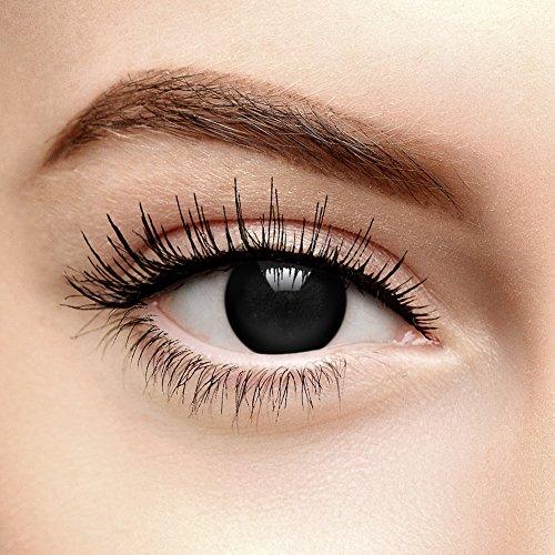 Schwarze Blind Zombie Halloween Farbige Kontaktlinsen ohne Stärke (Tageslinsen)