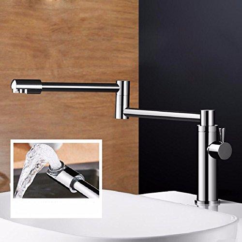 HQLCX Robinets de lavabo Pleine De Cuivre Bassin Pliantes Seul Robinet Toilettes Lavabo Robinet Peut ¨ºtre Renouvelable