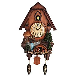 Diyida Vivid Large Cuckoo Clock、Wall Cuckoo Clock,Chime has Automatic Shut-Off [Kitchen & Home]