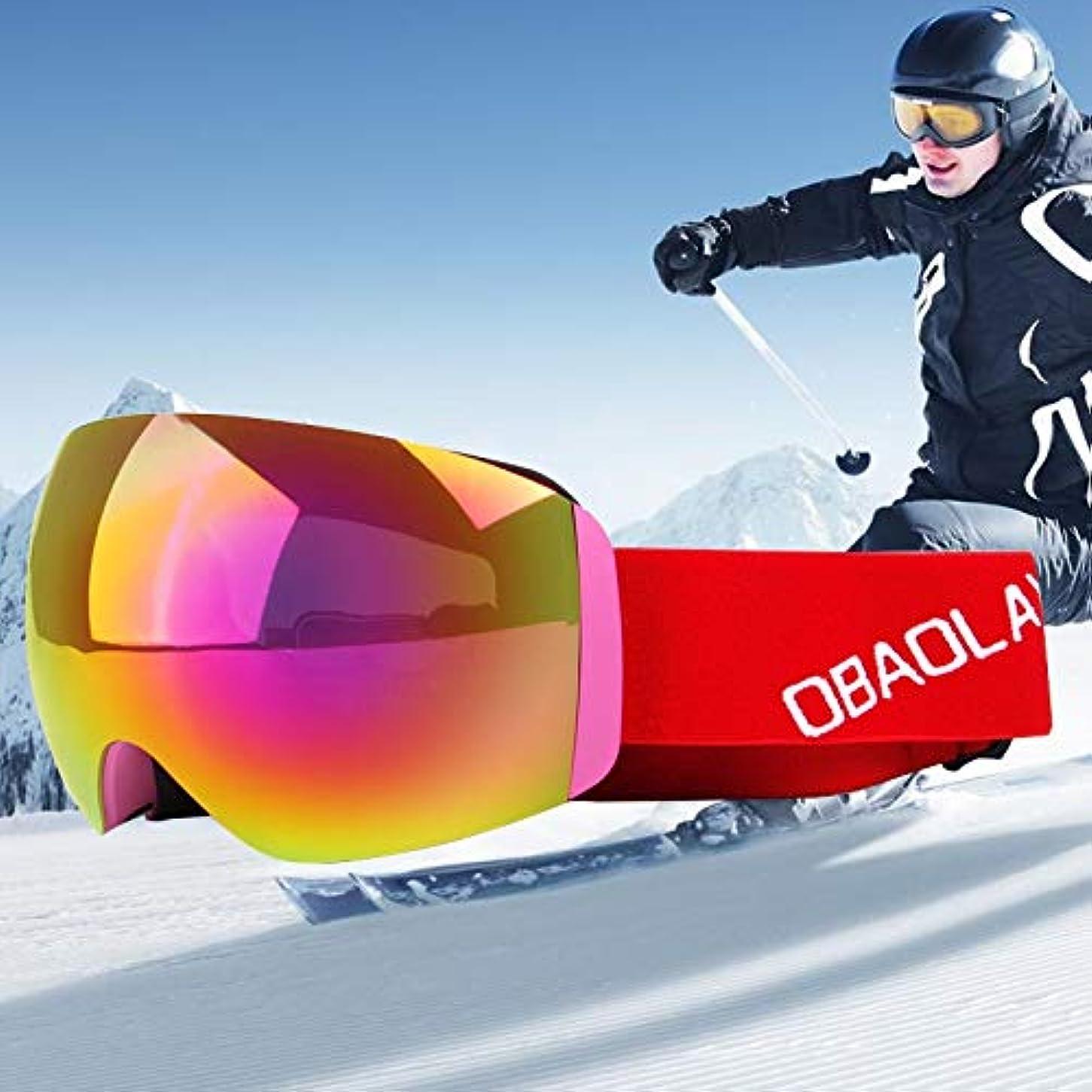 下線ネクタイ威するDiffomatealliance Glasses メガネH011ユニセックスデュアルレイヤーワイドビュー防曇防風UVプロテクション調整可能ストラップ付き球面ゴーグル(ホワイト+カラフル+レッド)