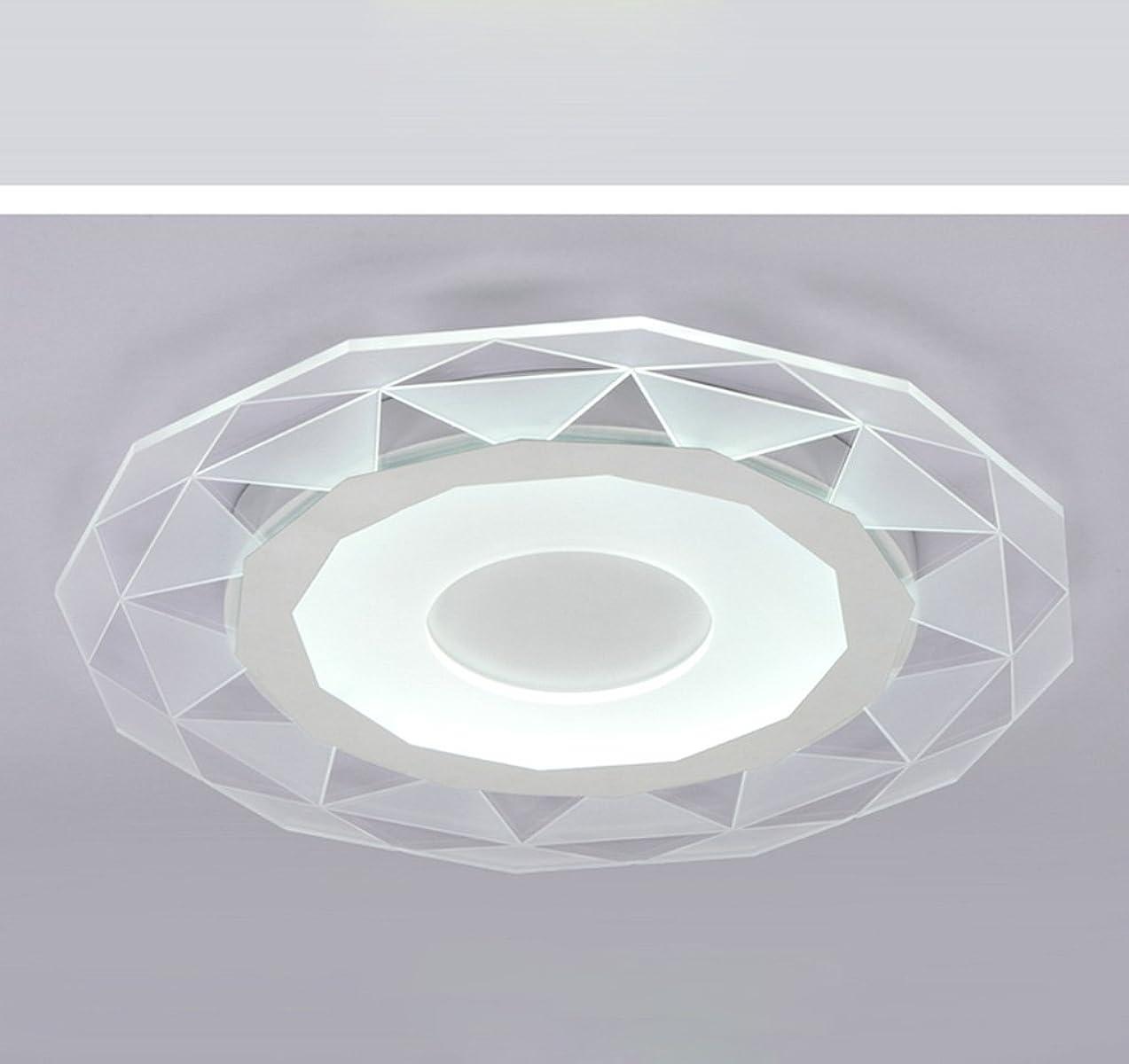 セミナー種をまく曇ったYSYYSH アクリルLed天井ランプシンプルなリビングルーム快適なベッドルームランプダイニングルームランプバルコニー3色は自由に切り替えることができます白い暖かい光とニュートラルライト 寝室の装飾ライト
