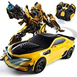 KaKaDz Timeless Large-Scale Figure Transformation Toys Tianzhu Wasp Remote Control Deformation Autobot One-Button Deformation Voice Control Induction Robot Model Boy Toy