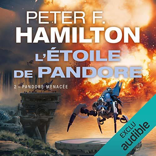 Pandore menacée audiobook cover art