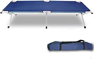 Camping Bed Folding Stretcher Light Weight with Carry Bag Camp Portable Green