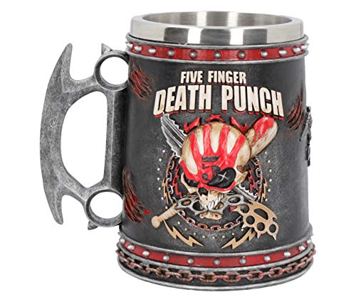 Nemesis Now Five Finger Death Punch - Jarra (resina con inserto de acero inoxidable, 15 cm), color negro