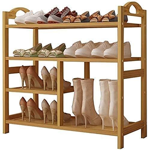 Estante de zapatos Zapatero familia simple y práctico de zapato del zapatero cremallera vertical Caja de almacenamiento de madera botas grandes, puerta de entrada de almacenamiento puerta de la habita