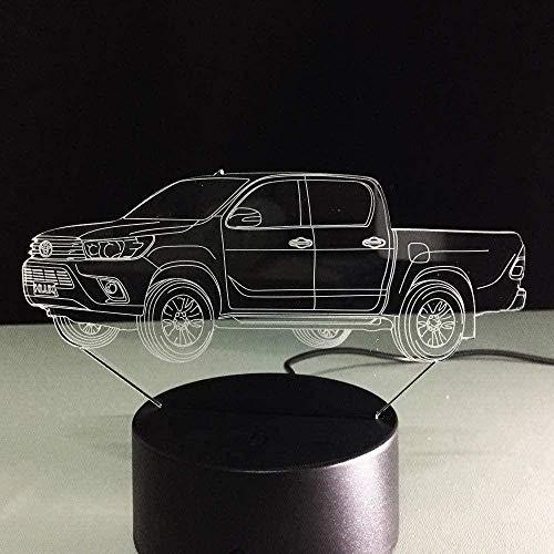 Nachtlicht Exquisite bunte exquisite bunte 3D Nachtlicht Nachtlicht LED-Schiebelampe neuer LKW mehr als 7 Farben USB schwarz Basis Kinder Paare Familienbett