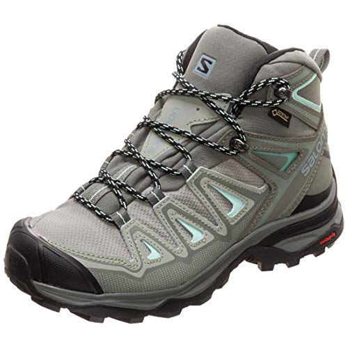 Salomon Women's X Ultra 3 Mid GTX Hiking Boots, SHADOW/Castor Gray/Beach Glass, 7