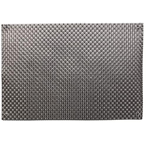 Juego de 2 manteles individuales de PVC malla, color gris