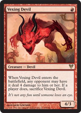 Magic The Gathering - Vexing Devil (164) - Avacyn Restored - Foil