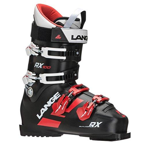 Lange RX 100 Chaussures de Ski pour Homme Noir/Rouge, Homme, LBG2100_27.5, Noir/Rouge, 27.5