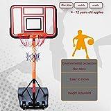 T&P Aro De Baloncesto Profesional En El Suelo, Canasta De Baloncesto PortáTil,Altura Ajustable, Base De PE, Soporte De Metal, Tablero De PVC Y Ruedas.