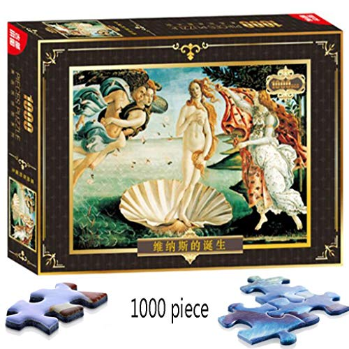 El Nacimiento de Venus por Sandro Botticelli 1000 Juego de Rompecabezas de Madera para Adultos Juguetes Decoración del hogar