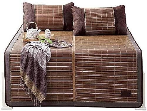 YONG FEI Bambusmatte - Faltbare Bambus- und Rattan-Matte für den Haushalt - sechs Grün erh lich Sommer-Schlafmatte (Größe   180X220cm)
