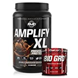 PMD Sports Amplify XL Premium Whey Protein Double Chocolate Explosion (24 Servings) & iSatori Bio-GRO Unflavored (60 Servings)
