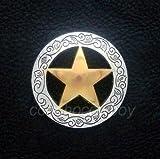 TANIMI Conchos Supplies for Western Horse TACK Headstall Saddle Antique Gold Star Conchos 1-1/2' Screw Back for mounting on Your Favorite Belt, Gunbelt, Saddle Blanket, Holster, bridles, Crafts