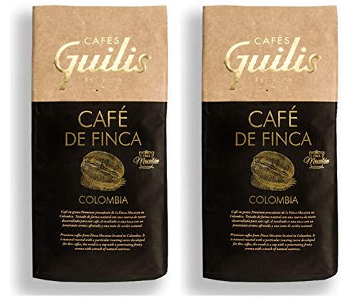 CAFES GUILIS DESDE 1928 AMANTES DEL CAFE Café de Colombia en Grano Arábica Tueste Natural. Finca Mocatán 2 Kg