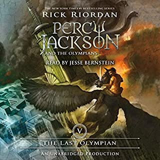 The Last Olympian     Percy Jackson and the Olympians, Book 5              Auteur(s):                                                                                                                                 Rick Riordan                               Narrateur(s):                                                                                                                                 Jesse Bernstein                      Durée: 11 h     64 évaluations     Au global 4,9