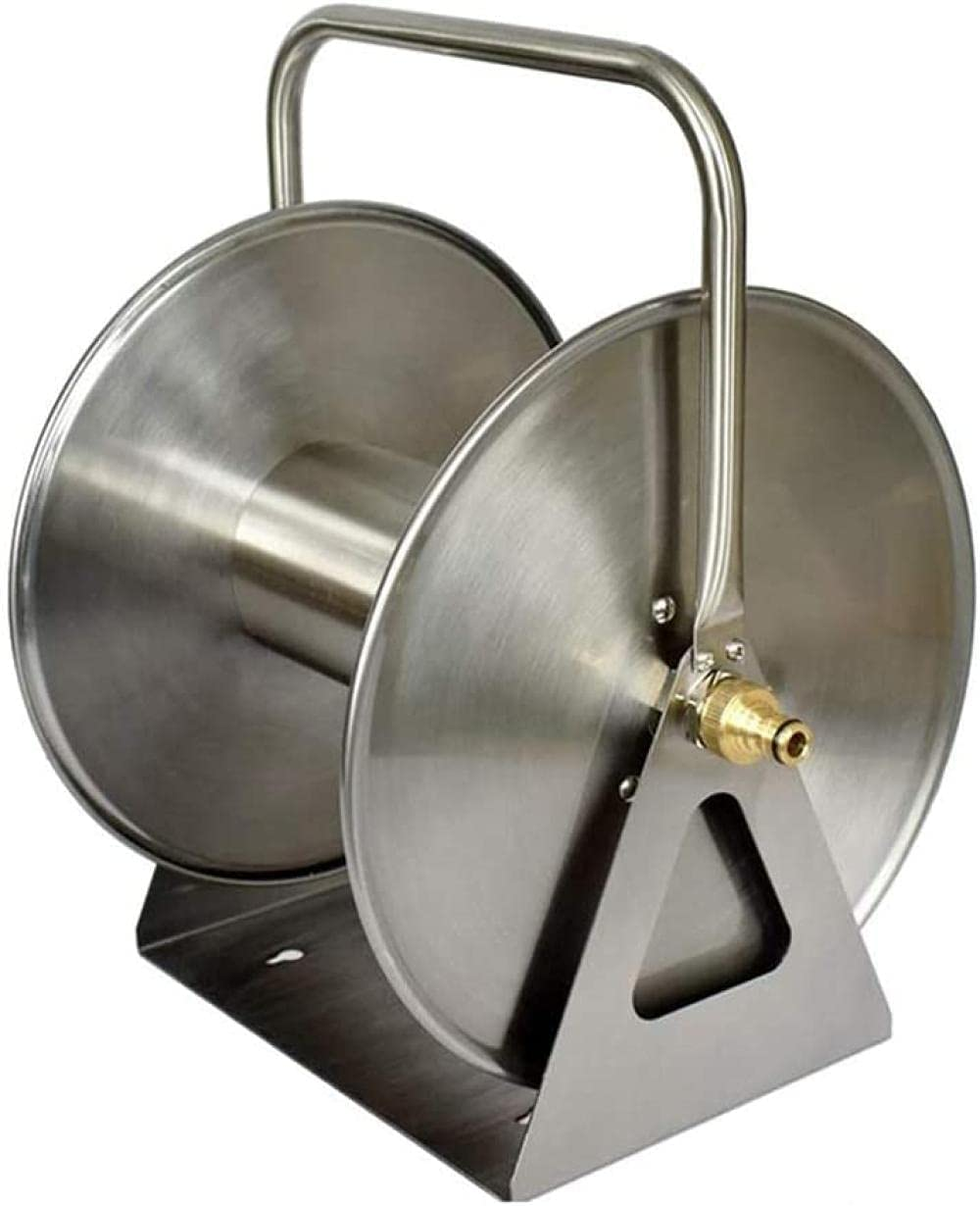 Stainless Safety and 67% OFF of fixed price trust Steel Hose Reel Wall Mounted Decorative Floor Garden