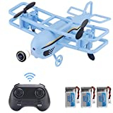 FancyWhoop JJRC H95 Mini Drone 2.4Ghz RC Quadcopter with Altitude Hold, Headless Mode, One Key Take/Landing/Return, 360°Flips Roll, 2 Speed Mode(3pcs Battery)