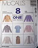 McCall's Sewing Pattern 8540 Misses' Unlined Jacket & Top, Size SM (8, 10)