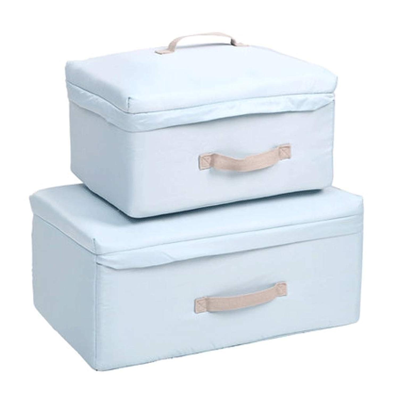 防湿キルト収納袋衣類分類袋家庭用収納包装袋荷物パッケージ大収納袋折りたたみ収納袋 (色 : Sky blue, サイズ さいず : L*2)