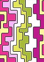 igsticker ポスター ウォールステッカー シール式ステッカー 飾り 1030×1456㎜ B0 写真 フォト 壁 インテリア おしゃれ 剥がせる wall sticker poster 007603 ユニーク ピンク 緑 グリーン 模様