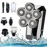 Rasoir électrique pour hommes, rasoir électrique rechargeable rasoir tête chauve rasoir rotatif USB sans fil rasoir électrique étanche tondeuse à barbe rasoirs pour hommes