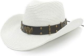 91ebb104fcb Mens Straw Western Cowboy Hats Summer Outdoor Beach Sombrero Sun Caps Unisex